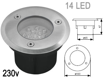Spot led encastrable 220v for Spot a encastrable exterieur