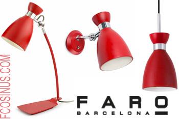 Luminaires design Faro Retro Metal Rouge