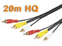 CORDON AUDIO/VIDEO RCA, 3 x RCA MALE VERS 3 x RCA MALE L=20m  HQ cable 75 ohms