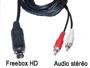 Cordon cable audio stéréo blindé mini din 9 broches pour Freebox HD vers 2 rca male L=1m