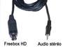 Cordon cable audio stéréo blindé mini din 9 broches pour Freebox HD vers jack 3.5mm male L=2m