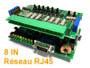 Module capteur IP réseau ethernet 8 entrées avec serveur web intégré