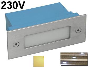 Spot Encastrable Mural Rectangulaire à LED 230v Intérieur / Extérieur Pour  Escalier, Allée De Jardin, Voie De Garage... LED Blanc Chaud 2700K
