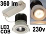 Spot encastrable orientable pour faux plafond 230v 4.4w LED 350mA COB 360lm