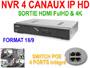 Enregistreur NVR 4 canaux H265 4K 120Fps POE pour cameras IP Avtech 1.3, 2, 5 et 8 mégapixels. compatible iphone / Android EAGLE EYES
