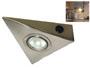 Spot triangle 12v pour plan de travail de cuisine fixation sous meuble haut avec interrupteur ( sans ampoule )