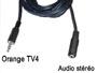 Cordon cable audio stéréo blindé jack 3.5mm 4 contacts pour décodeur Orange TV4 vers jack 3.5mm Femelle L=1,4m