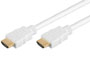 Cable / cordon HDMI blanc male-male OR HDCP L=5m avec ethernet