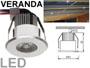 mini spot encastrable LED 350mA faible diamètre 42mm  spécial chevron de véranda