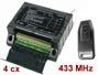 Kit télécommande sans fil + récepteur 230vac à 4 canaux à relais 433 Mhz en boitier compatible rail DIN pour tableau électrique